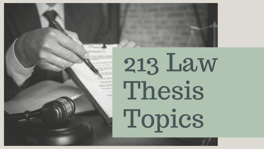 law thesis topics