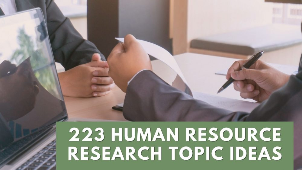 human resource research topic